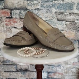 RALPH LAUREN Tan Patent Leather Loafers Size 6